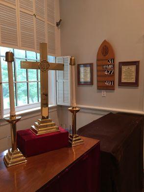 cross and hymn board